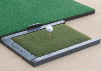 FairwayPro Golf Mat Accepts and Holds Regular Tees